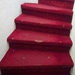 Escalier que vous devrez emprunter s vous arrivez après 21h30...