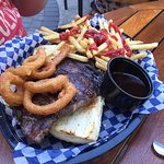 This was actually very good - but way too expensive - ribeye sandwich