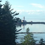 View on the lighthouse from the site.