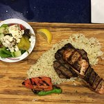 """""""Special"""" salmon and NY steak"""