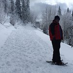On one of the paths for snow shoeing at Steamboat Springs