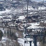 On the gondola Steamboat Spring Ski Resort