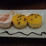 strawberry `and passion fruit cheese cake
