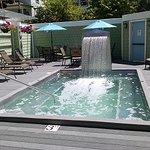 Private hot tub at The Inn.