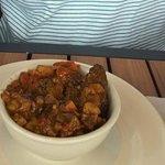curried goat bowl=sampler
