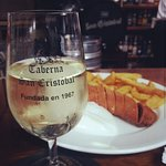 Flamenquin y medio de fino Montilla-Moriles