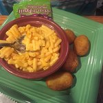 child's macaroni & cheese with mini corn dogs