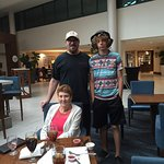 My son, grandson and I in the hotel bar/cafe for lunch.