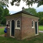 The privy, built the same time as the house, had separate halves for men and women (& children).