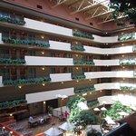 huge atrium with rooms on perimeter