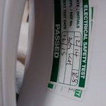 Kettle PAT test sticker