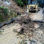 Landslides and blocked roads are a common sight
