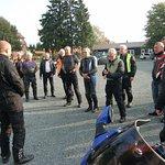 22 køreglade motorcyklister før køreturen