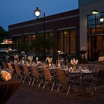 Social Terrace Wedding Reception