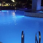 Pool in the resort at night