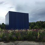 The Big Blue cube for the Iceland exhibit