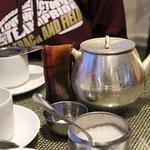 Having tea at Glennaries at the Mall.