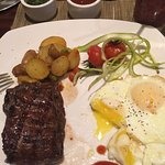 Breakfast. Steak and Eggs