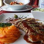 seafood risotto, tuna
