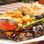Baby Back Ribs with ColeSlaw and Steakhouse Frites...YUMMY!