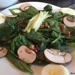 Wonderful spinach salad. Others are available