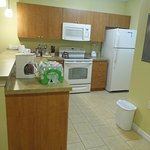 Full Kitchen with stove, oven microwave and full refrigerator