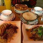 Pork, spicy duck noodles, mapo tofu
