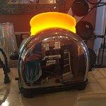 Unique antique toaster light