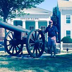 Stonington memorial cannon, one of a pair