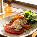 Heirloom Tomato Salad with Dungeness Crab