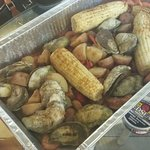 Captain Puddle Ducks' Seafood Steamer Pots Foto