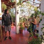 Upstairs garden/eating area