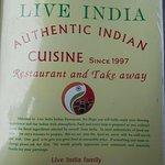 Live India Indian Restaurant Foto