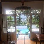 Aussicht vom Restaurant zum Pool