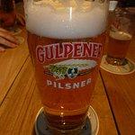 Pinta de cerveza Gulpener.