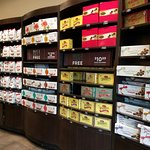 Store Shelves stocked with chocolate goodness!