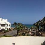 Blick auf den Strand und Meer