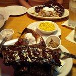 Pork back ribs BBQ
