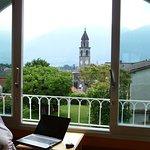 Ausblick vom Zimmer über Ascona zum Lago