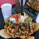 Excellent Chicken Tostada Salad. Plenty of fresh vegetables and ingredients. The service was gre
