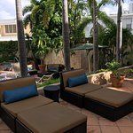 Comfy loungers by Poolside rooms