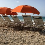 Ocean Park Beach - lounge chairs and umbrellas are included in resort fee during stay.