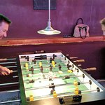 Foosball fun at Der Hinterhof!