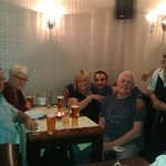 One of our night's out with friends at our favourite Indian with some of the staff!