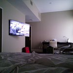 Only a little better view of the tv from the far side of the bed. :( Room 375