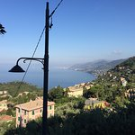 Photos showing the view, superb breakfast and dog Tobia. A great place to stay!