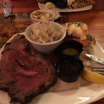 Prime rib and lobster