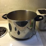 only one very large pot provided. not very practical, took 45 minutes just to boil some water