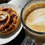 Coffee & cinnamon bun