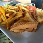 Adult grilled cheese with fries